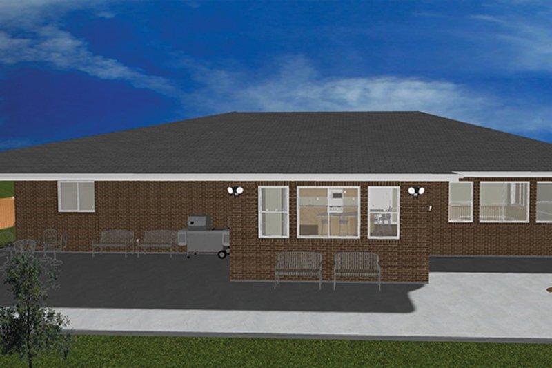 House Plan Design - Ranch Exterior - Rear Elevation Plan #1060-27