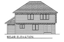 Dream House Plan - Traditional Exterior - Rear Elevation Plan #70-265