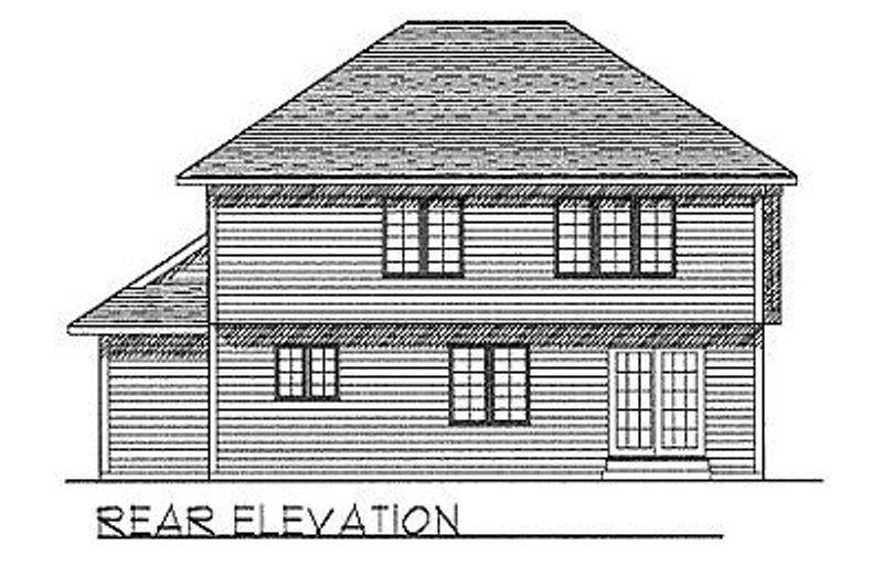 Traditional Exterior - Rear Elevation Plan #70-265 - Houseplans.com