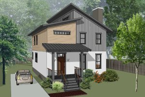 Home Plan - Contemporary Exterior - Front Elevation Plan #79-316