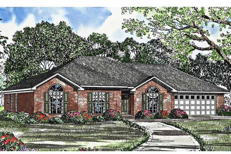 Ranch Exterior - Front Elevation Plan #17-3016 - Houseplans.com