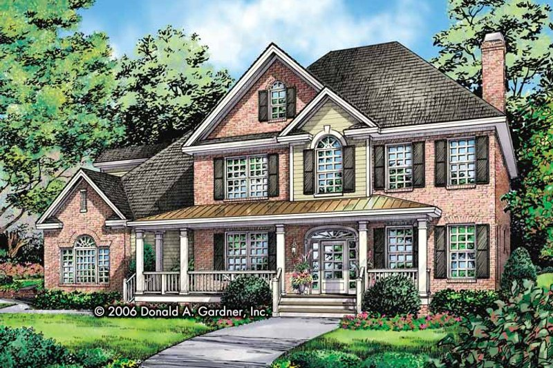 Traditional Exterior - Front Elevation Plan #929-801 - Houseplans.com