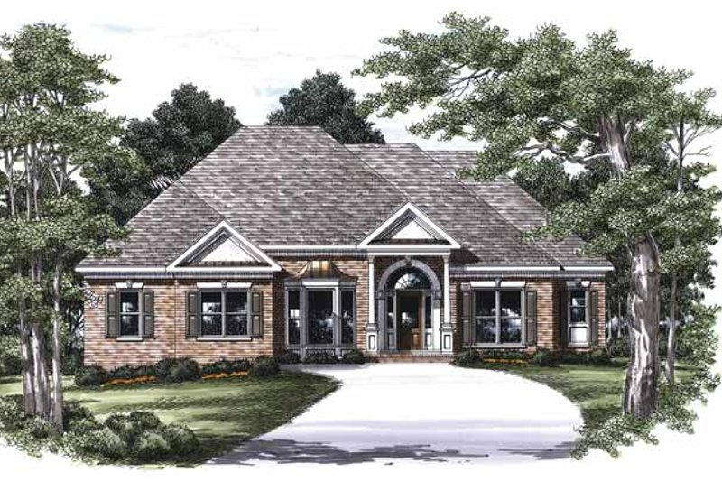 Classical Exterior - Front Elevation Plan #927-454