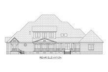 Dream House Plan - Colonial Exterior - Rear Elevation Plan #1054-70