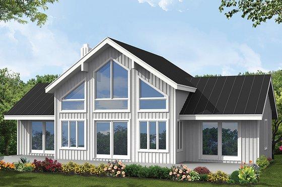Architectural House Design - Contemporary Exterior - Rear Elevation Plan #1061-8