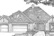 European Style House Plan - 3 Beds 2.5 Baths 2245 Sq/Ft Plan #310-318 Exterior - Front Elevation