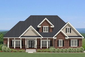 European Exterior - Front Elevation Plan #898-31