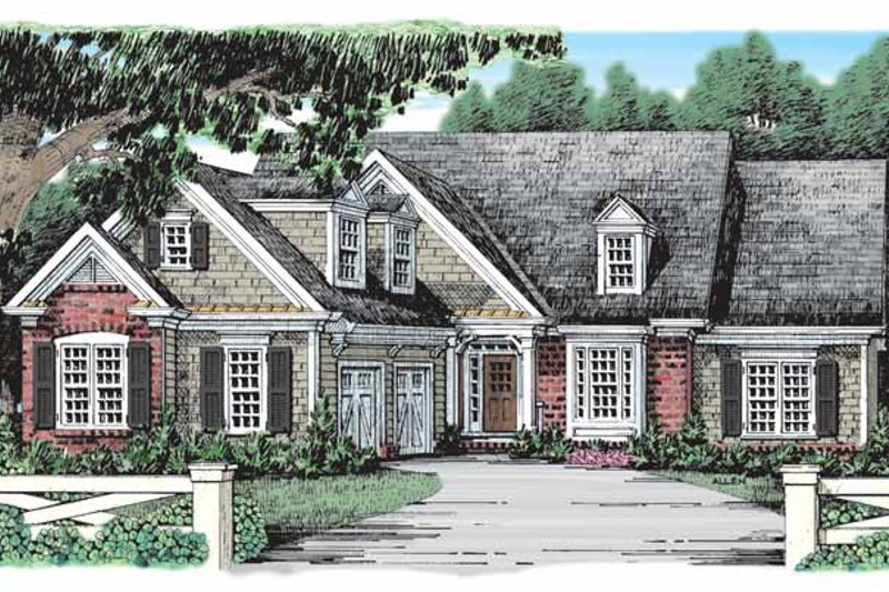 Country Exterior - Front Elevation Plan #927-905