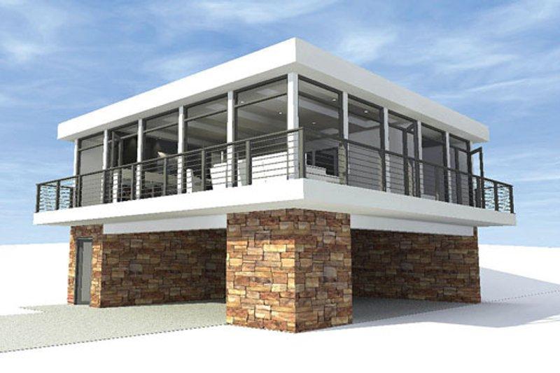 Contemporary Exterior - Front Elevation Plan #64-304 - Houseplans.com