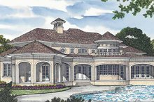 House Plan Design - Mediterranean Exterior - Rear Elevation Plan #453-574