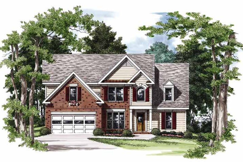 Colonial Exterior - Front Elevation Plan #927-751