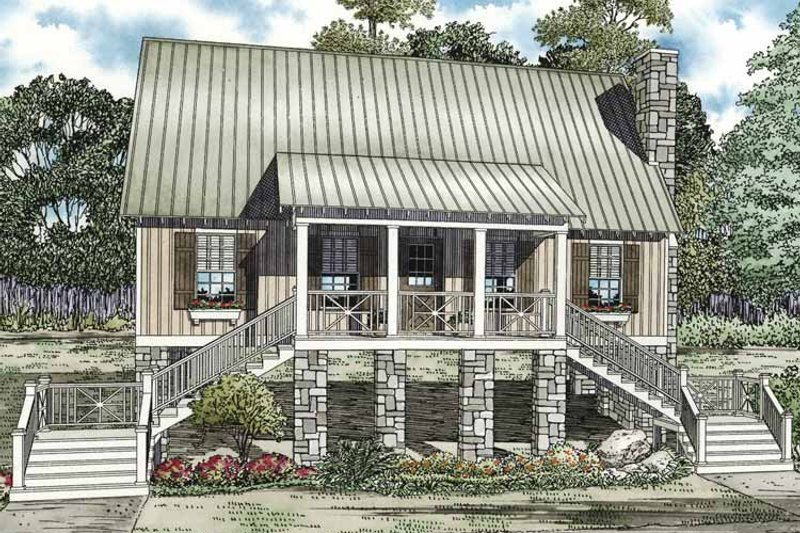Country Exterior - Front Elevation Plan #17-3281 - Houseplans.com