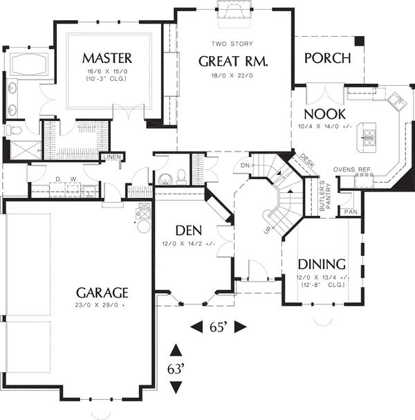 Traditional Floor Plan - Main Floor Plan Plan #48-159