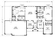 Craftsman Style House Plan - 3 Beds 2.5 Baths 2196 Sq/Ft Plan #53-542 Floor Plan - Main Floor Plan