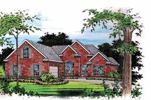 Architectural House Design - Traditional Exterior - Front Elevation Plan #15-301