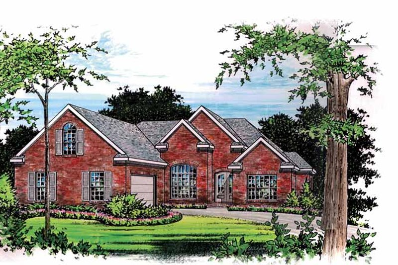 Traditional Exterior - Front Elevation Plan #15-301 - Houseplans.com