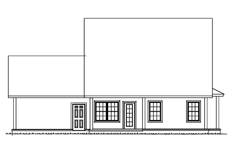 Traditional Exterior - Rear Elevation Plan #513-2162 - Houseplans.com