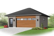 House Plan Design - Contemporary Exterior - Front Elevation Plan #23-2564