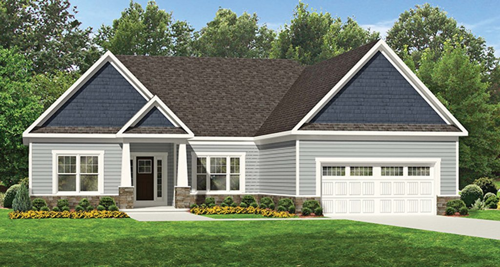 Ranch Style House Plan - 3 Beds 2 Baths 2024 Sq/Ft Plan #1010-107 on