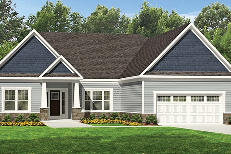 Ranch Exterior - Front Elevation Plan #1010-107