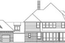 European Exterior - Rear Elevation Plan #84-190