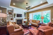 Ranch Style House Plan - 5 Beds 3.5 Baths 4406 Sq/Ft Plan #70-1502 Interior - Family Room
