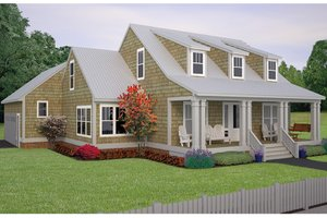 Colonial Exterior - Front Elevation Plan #991-26