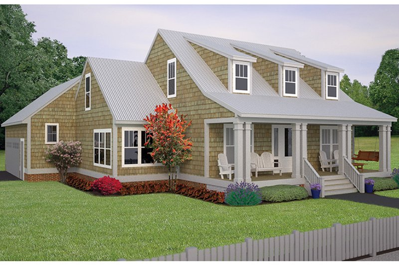 Architectural House Design - Colonial Exterior - Front Elevation Plan #991-26