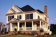 Colonial Exterior - Front Elevation Plan #429-257