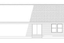 Colonial Exterior - Rear Elevation Plan #17-2900