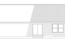 Colonial Exterior - Rear Elevation Plan #17-2900