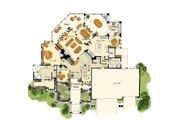 Craftsman Style House Plan - 5 Beds 6.5 Baths 5876 Sq/Ft Plan #942-16 Floor Plan - Main Floor