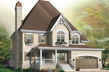 Dream House Plan - European Exterior - Front Elevation Plan #23-657