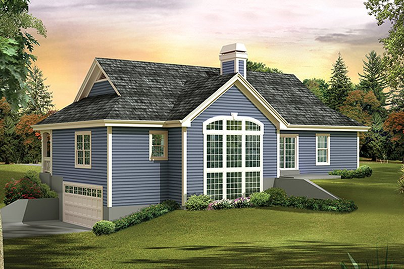 Country Exterior - Rear Elevation Plan #57-637 - Houseplans.com