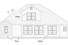 Cottage Exterior - Rear Elevation Plan #513-2079