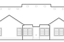 Country Exterior - Rear Elevation Plan #1053-75