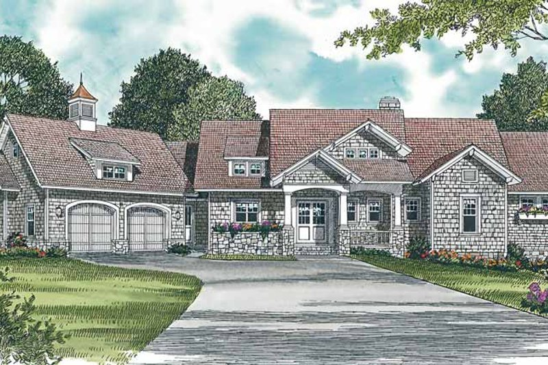 Craftsman Exterior - Front Elevation Plan #453-309