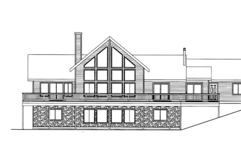 Craftsman Exterior - Rear Elevation Plan #117-843 - Houseplans.com