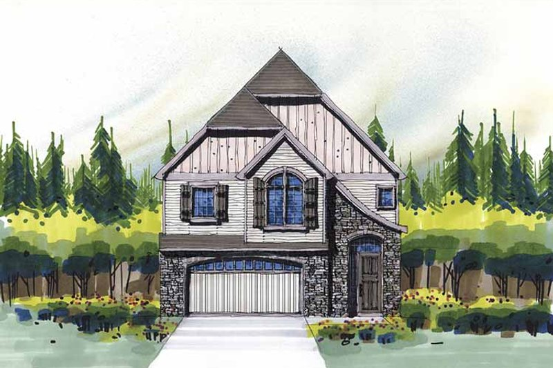 Craftsman Exterior - Front Elevation Plan #509-316