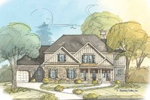 Home Plan - Country Exterior - Front Elevation Plan #429-371