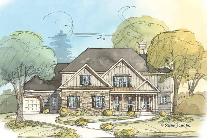 Country Exterior - Front Elevation Plan #429-371