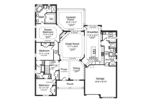 European Floor Plan - Main Floor Plan Plan #46-858