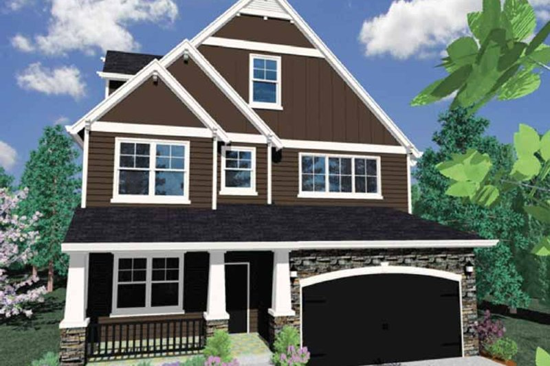 Traditional Exterior - Front Elevation Plan #509-349 - Houseplans.com