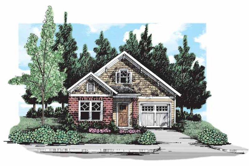 Craftsman Exterior - Front Elevation Plan #927-298