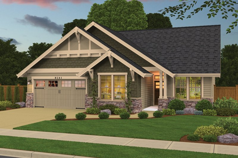 Architectural House Design - Country Exterior - Front Elevation Plan #943-39