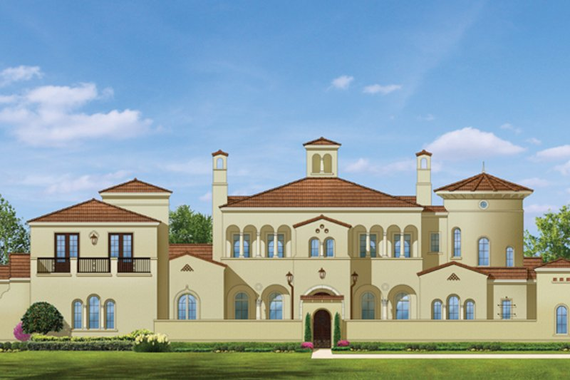 Mediterranean Exterior - Front Elevation Plan #1058-25