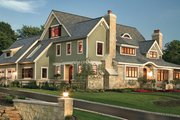Craftsman Style House Plan - 4 Beds 3.5 Baths 4610 Sq/Ft Plan #928-19 Exterior - Front Elevation