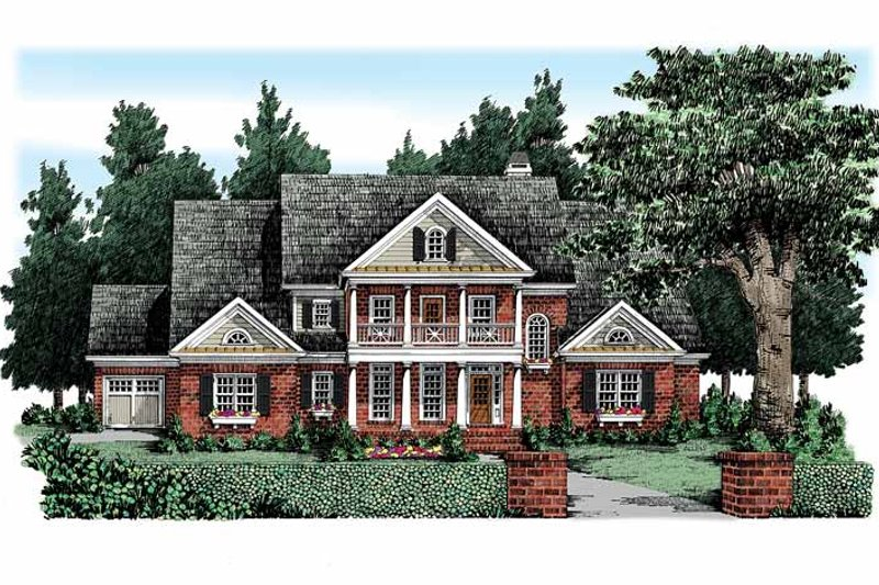 House Plan Design - Colonial Exterior - Front Elevation Plan #927-327