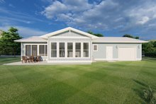 House Plan Design - Ranch Exterior - Rear Elevation Plan #126-209