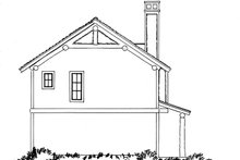 Country Exterior - Rear Elevation Plan #942-20